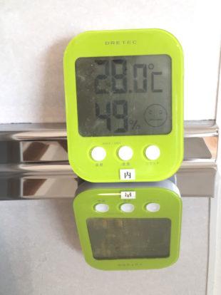 室内温度28℃