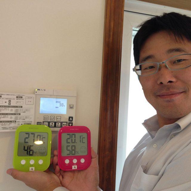 室内温度と外気温度
