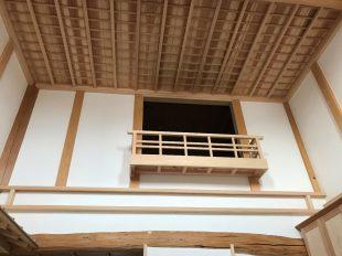 全て無垢材を使用、天井は格天井