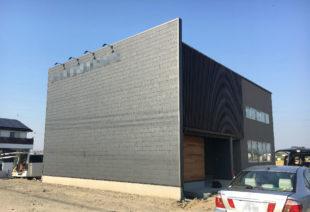 K舗道様事務所新建屋建設工事の外観