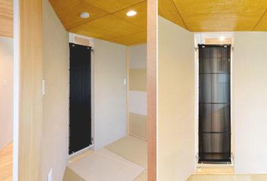 K様邸 和室のクール暖パネル
