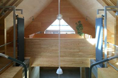 2階吹き抜け部のクール暖パネル